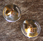 silver conchos with copper overlay