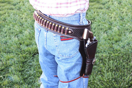 custom leather gun belt and holster